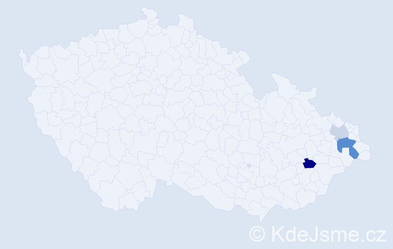 Příjmení: 'Iceli', počet výskytů 9 v celé ČR