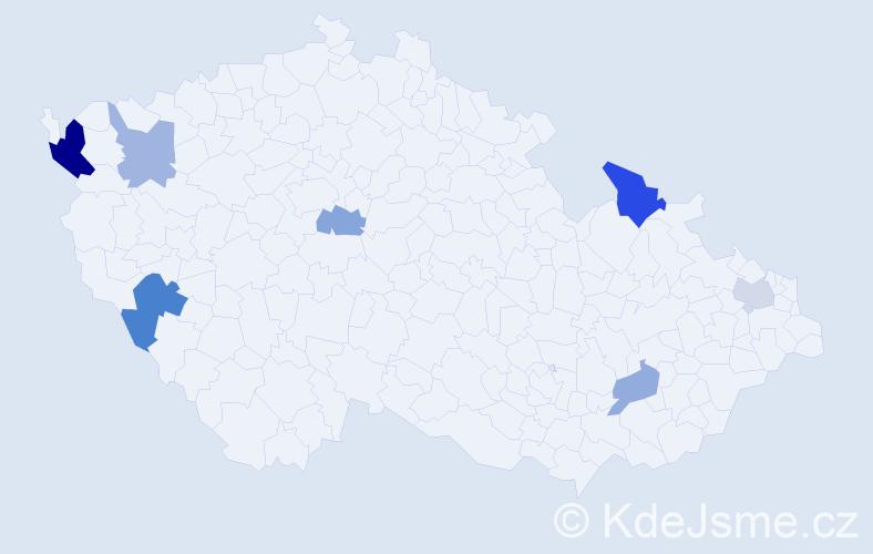 Příjmení: 'Glejdura', počet výskytů 12 v celé ČR