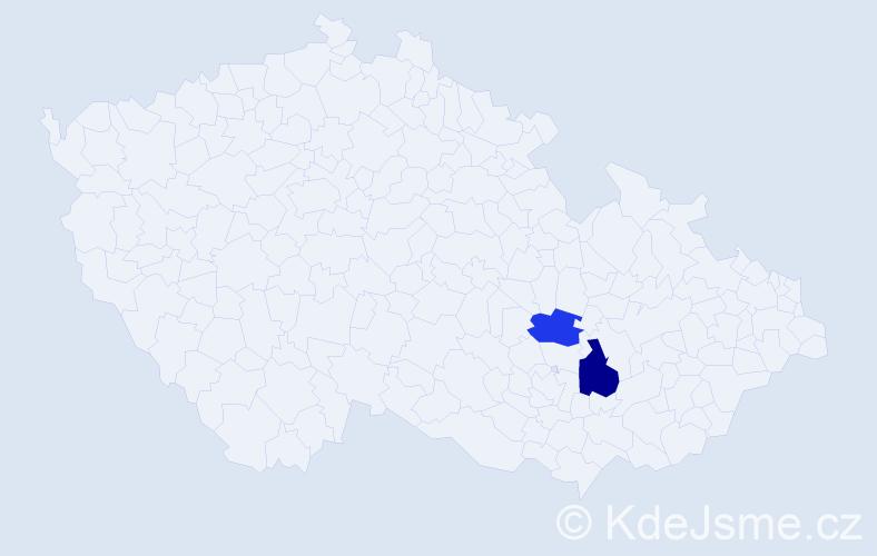 Příjmení: 'Umshausová', počet výskytů 5 v celé ČR