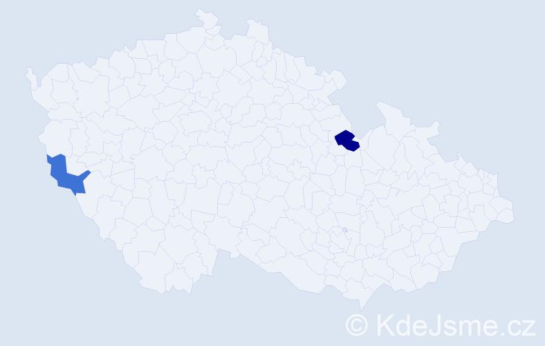 Příjmení: 'Dragonides', počet výskytů 7 v celé ČR