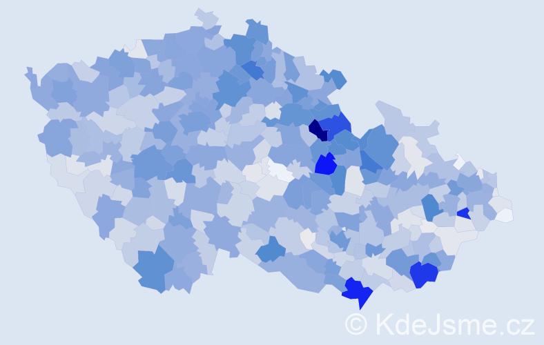 Příjmení: 'Bartošová', počet výskytů 7132 v celé ČR