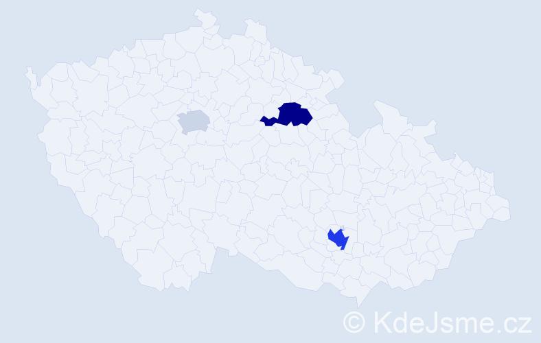 Příjmení: 'Gilka', počet výskytů 6 v celé ČR