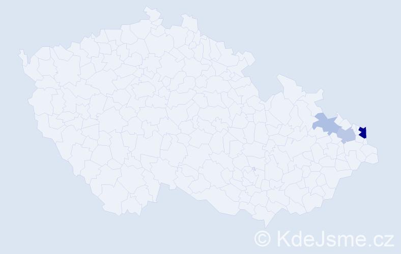 Příjmení: 'Chmielniaková', počet výskytů 9 v celé ČR