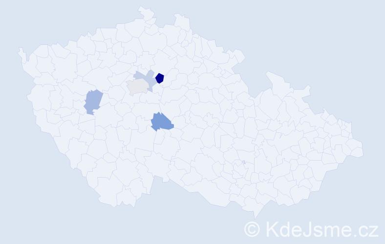 Příjmení: 'Hosperger', počet výskytů 8 v celé ČR