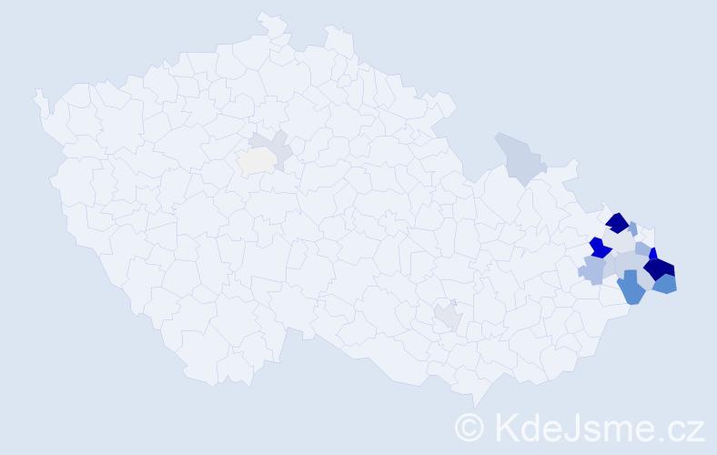 Příjmení: 'Gorná', počet výskytů 67 v celé ČR