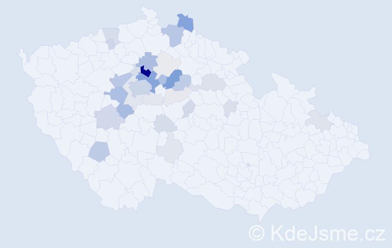 Příjmení: 'Čemusová', počet výskytů 133 v celé ČR