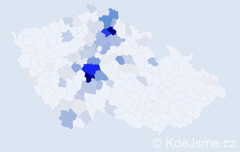 Příjmení: 'Červová', počet výskytů 277 v celé ČR