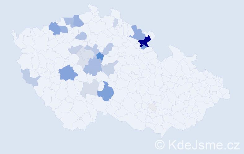 Příjmení: 'Cinka', počet výskytů 66 v celé ČR