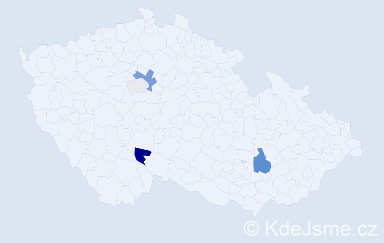Příjmení: 'Ivanšík', počet výskytů 7 v celé ČR