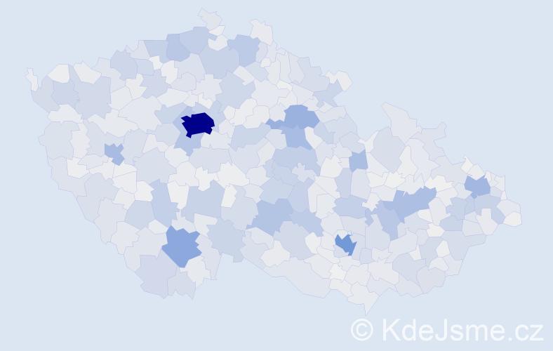 Příjmení: 'Marková', počet výskytů 11616 v celé ČR