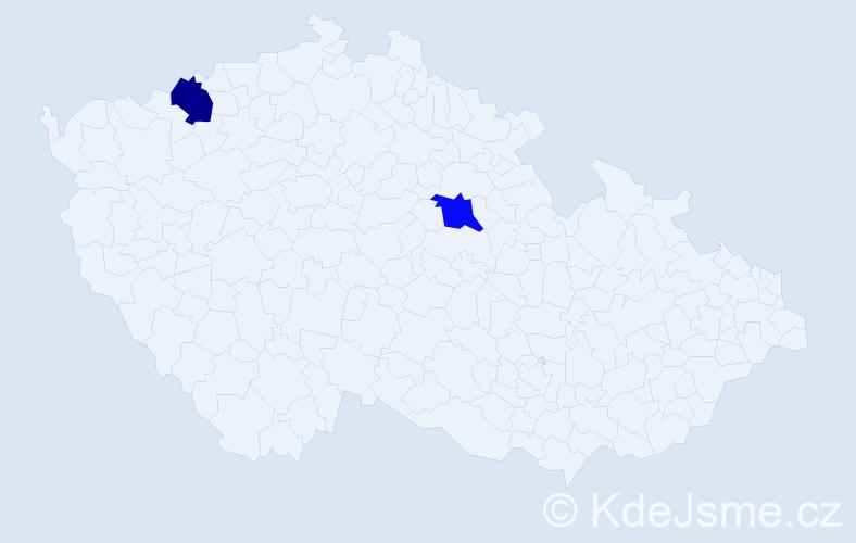 Příjmení: 'Bialy', počet výskytů 2 v celé ČR