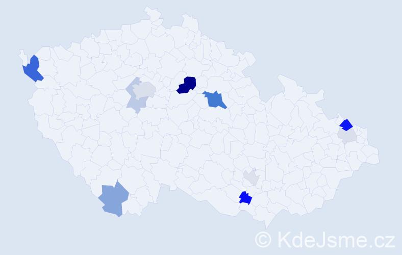 Příjmení: 'Eppinger', počet výskytů 22 v celé ČR