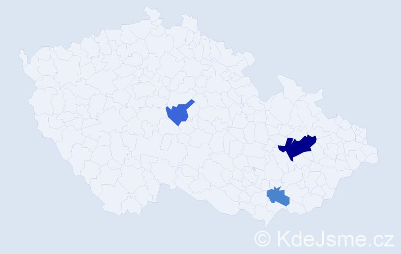 Příjmení: 'Kneipová', počet výskytů 6 v celé ČR