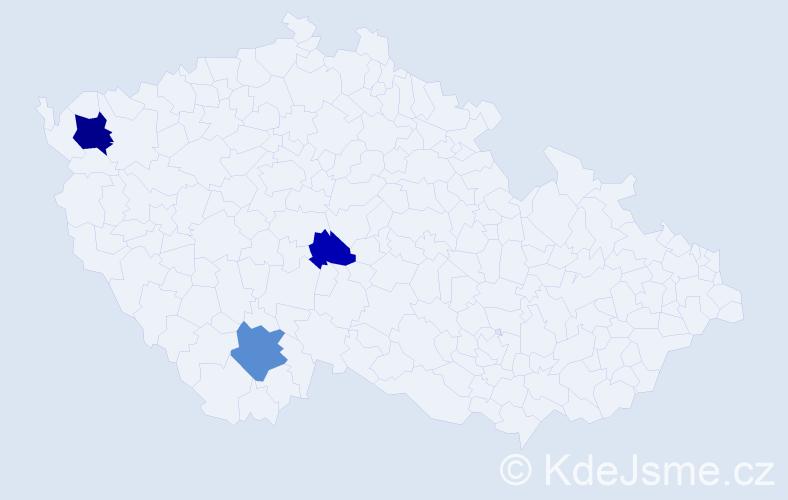 Příjmení: 'Lautenbach', počet výskytů 6 v celé ČR
