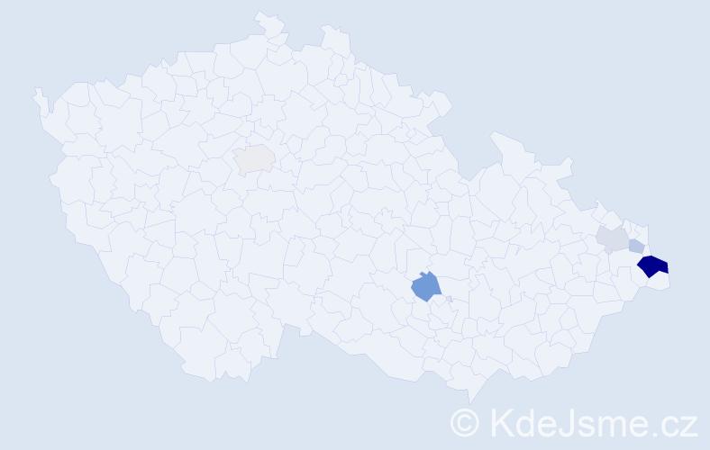 Příjmení: 'Jasińská', počet výskytů 10 v celé ČR