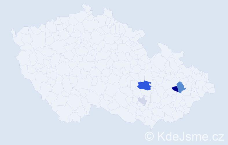 Příjmení: 'Ďurčan', počet výskytů 5 v celé ČR