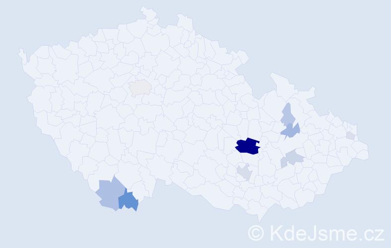 Příjmení: 'Grénar', počet výskytů 51 v celé ČR