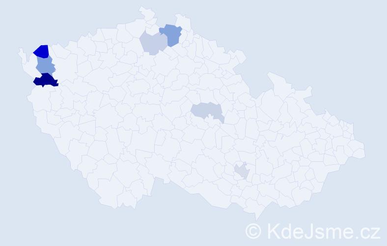 Příjmení: 'Erps', počet výskytů 17 v celé ČR