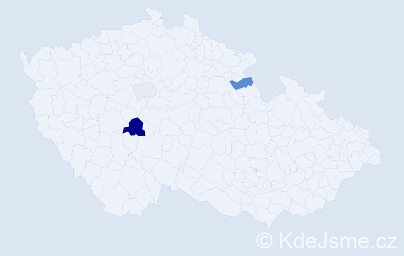 Příjmení: 'Ledínský', počet výskytů 10 v celé ČR