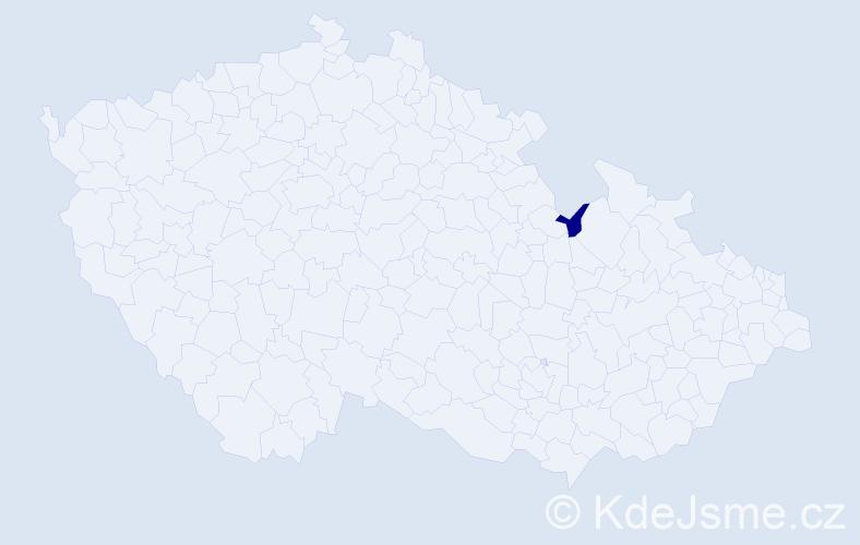 Příjmení: 'Kapacová', počet výskytů 3 v celé ČR