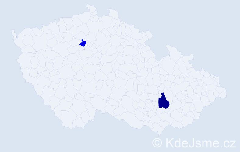 Příjmení: 'Legéňová', počet výskytů 3 v celé ČR