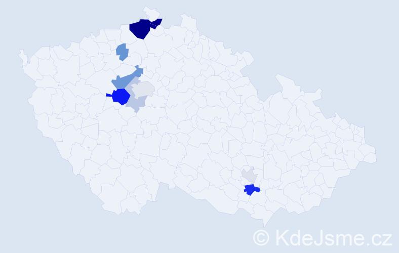Příjmení: 'Goldammerová', počet výskytů 24 v celé ČR