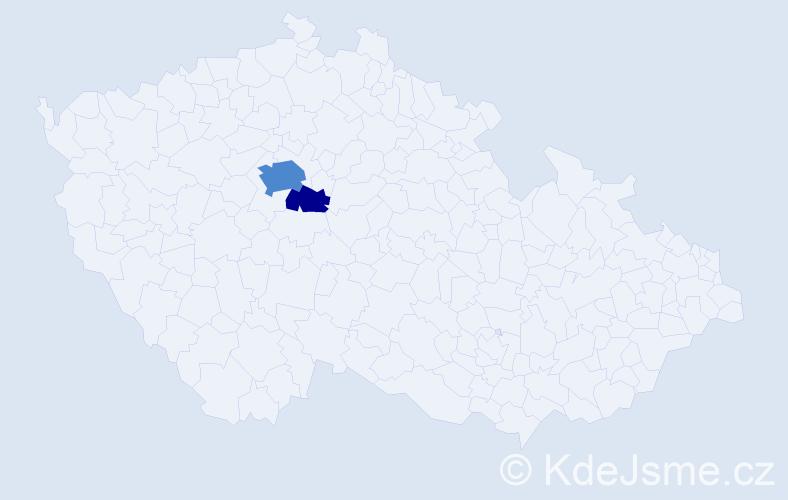 Příjmení: 'Landbauerová', počet výskytů 7 v celé ČR