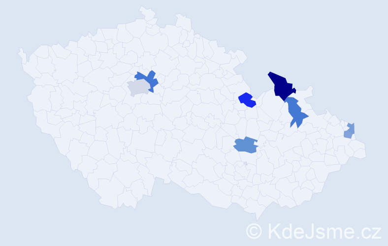 Příjmení: 'Koňušík', počet výskytů 11 v celé ČR