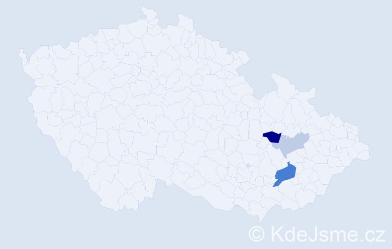 Příjmení: 'Doneberk', počet výskytů 6 v celé ČR