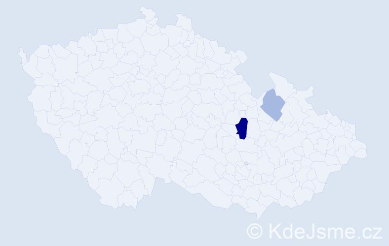 Příjmení: 'Iannotta', počet výskytů 4 v celé ČR