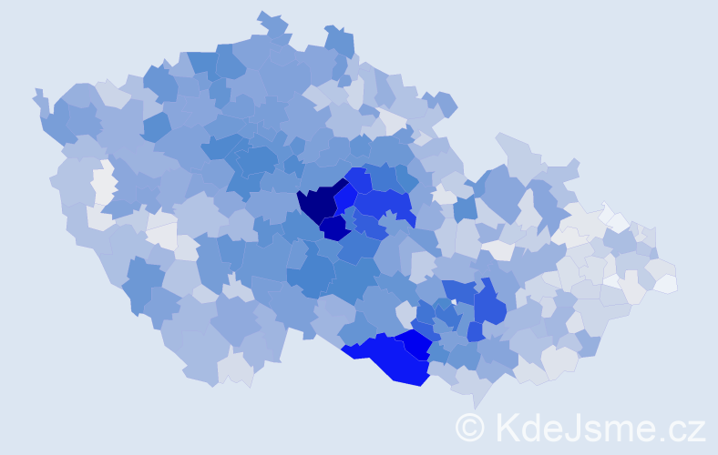 Příjmení: 'Jelínková', počet výskytů 10308 v celé ČR