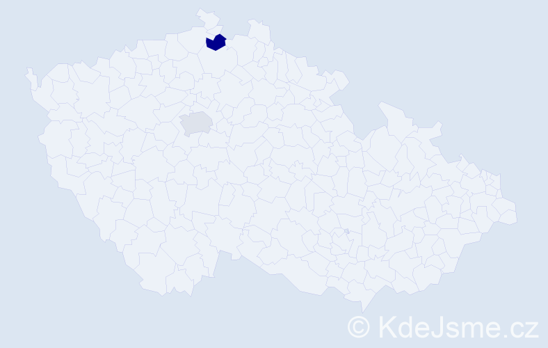 Příjmení: 'Dzekan', počet výskytů 2 v celé ČR