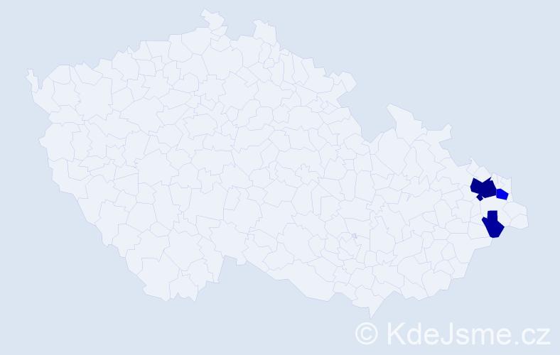 Příjmení: 'Jendryka', počet výskytů 13 v celé ČR