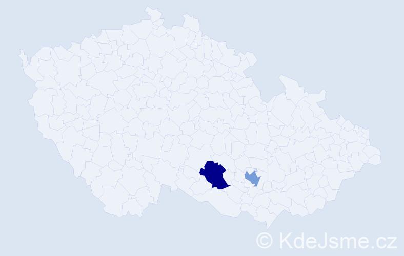 Příjmení: 'Bald', počet výskytů 2 v celé ČR