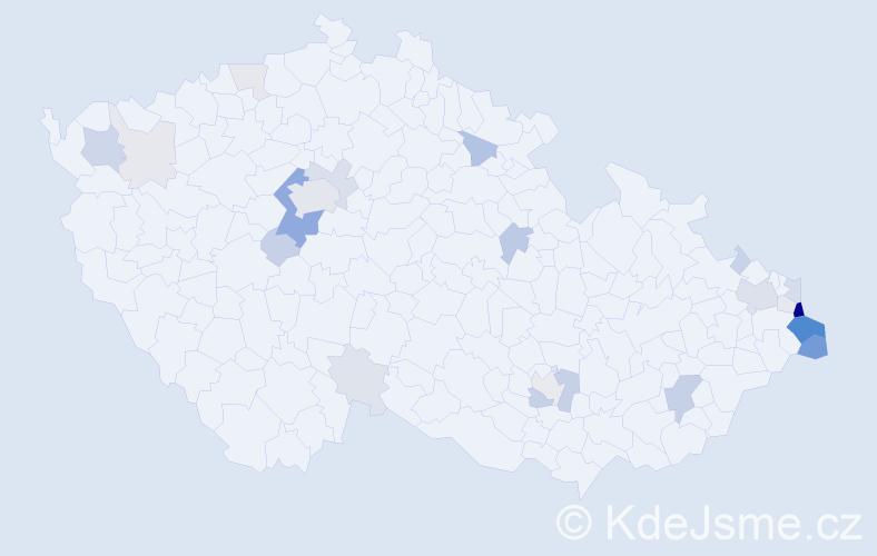 Příjmení: 'Branný', počet výskytů 86 v celé ČR