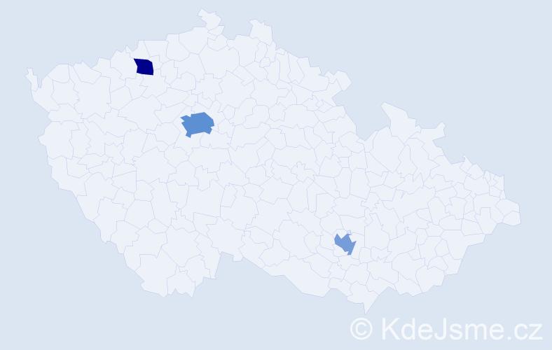 Příjmení: 'Feuereiselová', počet výskytů 6 v celé ČR