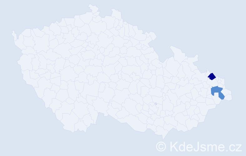 Příjmení: 'Garib', počet výskytů 2 v celé ČR