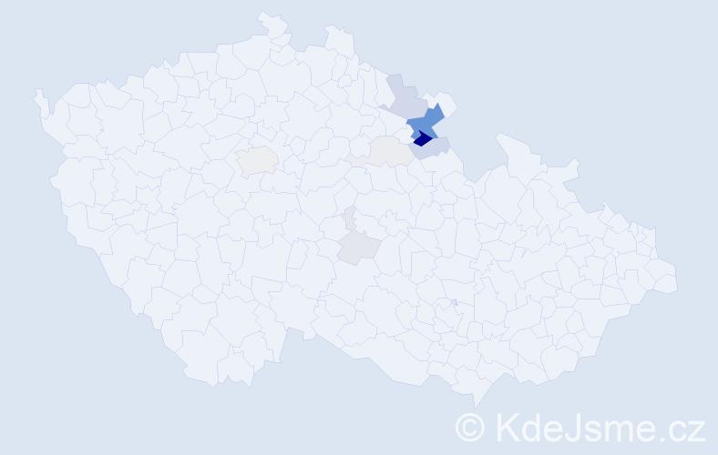 Příjmení: 'Cohorna', počet výskytů 35 v celé ČR