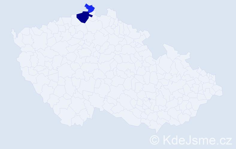 Příjmení: 'Malowanyj', počet výskytů 4 v celé ČR