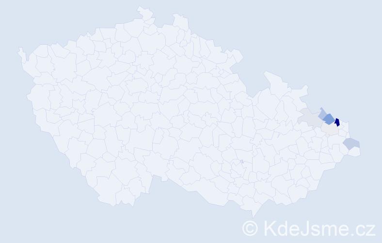 Příjmení: 'Boczek', počet výskytů 20 v celé ČR