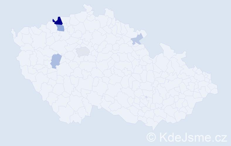 Příjmení: 'Gažúrová', počet výskytů 13 v celé ČR