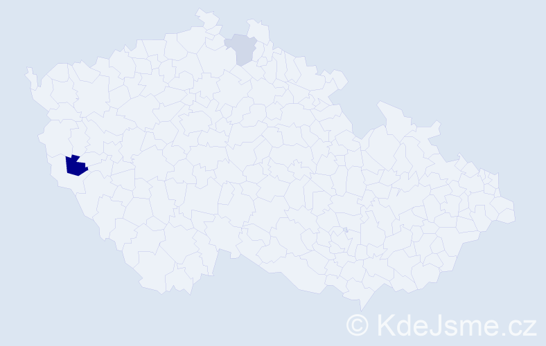 Příjmení: 'Gobliržová', počet výskytů 3 v celé ČR
