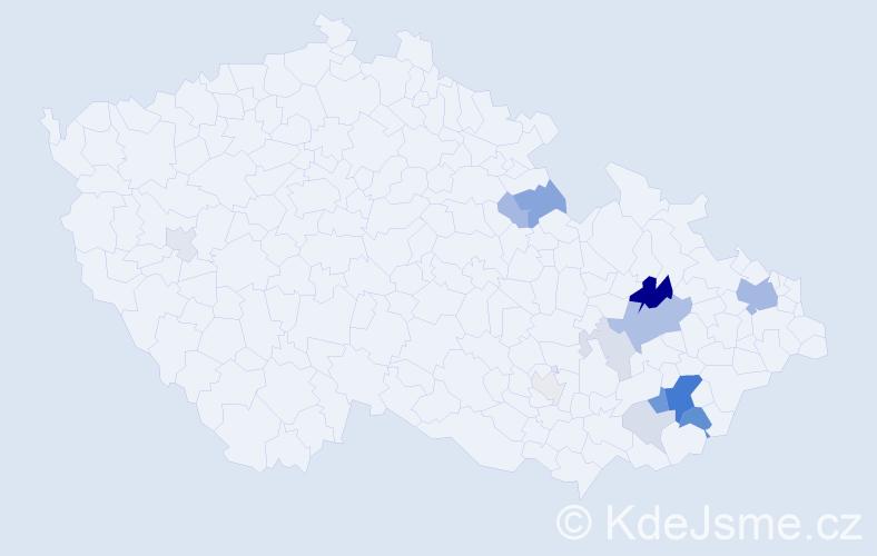 Příjmení: 'Čižmař', počet výskytů 41 v celé ČR
