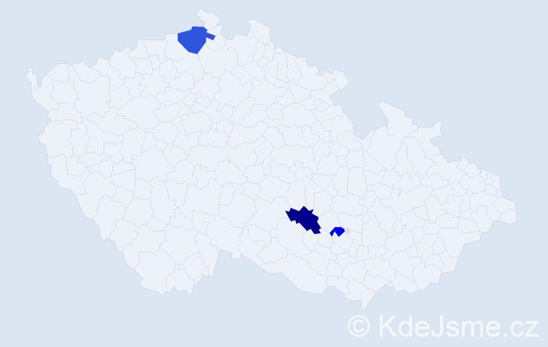Příjmení: 'Hermányová', počet výskytů 11 v celé ČR