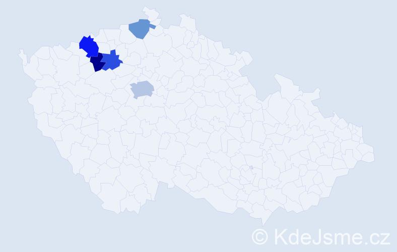Příjmení: 'Babičíková', počet výskytů 8 v celé ČR