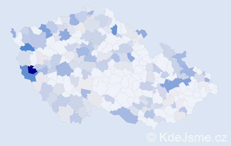 Příjmení: 'Beck', počet výskytů 523 v celé ČR