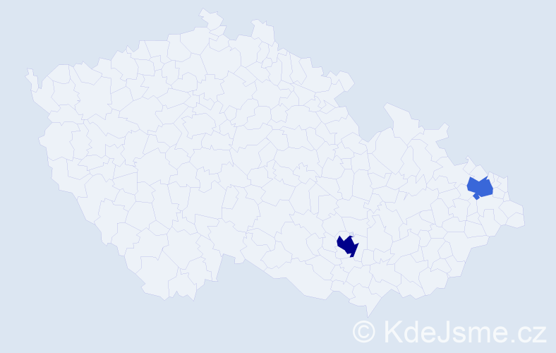 Příjmení: 'Ceglédyová', počet výskytů 3 v celé ČR