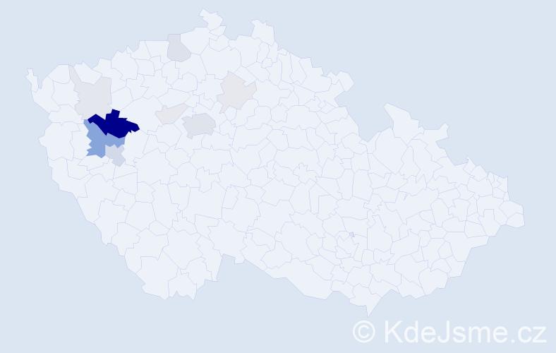Příjmení: 'Habrych', počet výskytů 38 v celé ČR