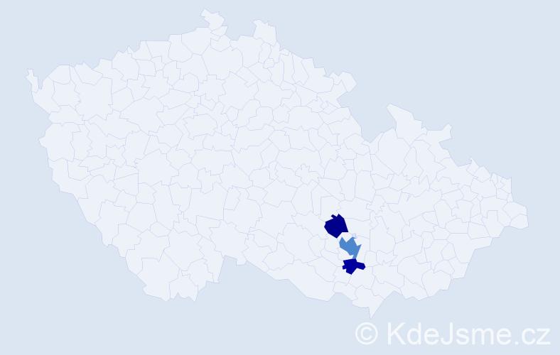 Příjmení: 'Egerle', počet výskytů 6 v celé ČR
