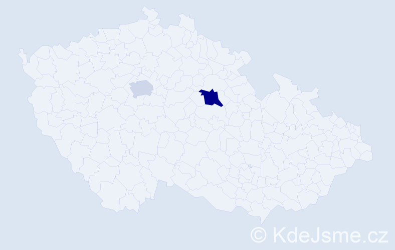 Příjmení: 'Lagusová', počet výskytů 3 v celé ČR